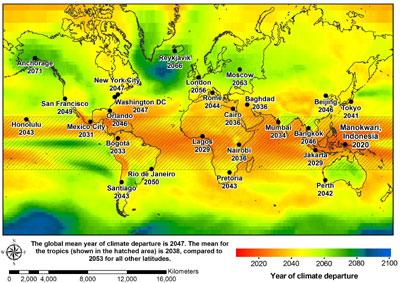 Climate departure