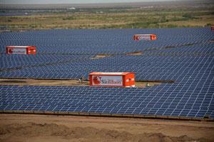 India's biggest solar park
