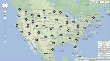 EPA GHG Map