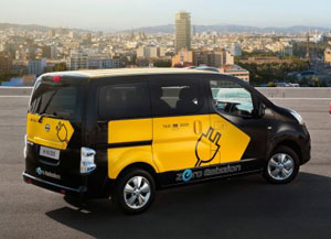 Nissan electric taxi