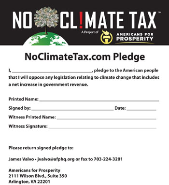 Koch Climate Tax Pledge