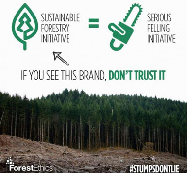 Major Corporations Drop Sustainable Forestry Initiative, Favor FSC
