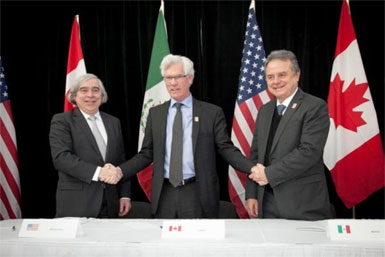 Climate MOU: US, Canada, Mexico