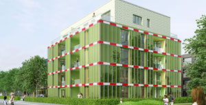 Algae-covered building BIQ