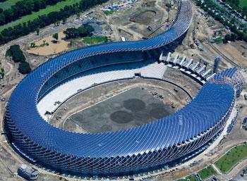 Solar Panels Cover Taiwan Stadium, A Beautiful Design